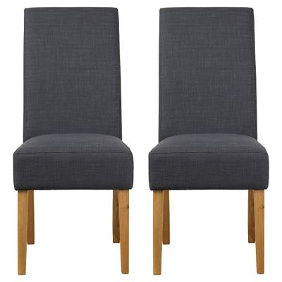 Debenhams Pair of grey fabric 