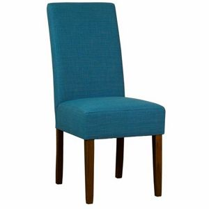 Debenhams Pair of teal blue fabric Parsons dining chairs
