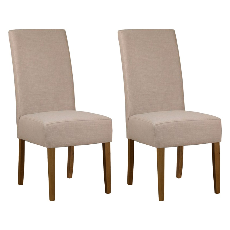 debenhams pair of beige fabric parsons dining chairs with. Black Bedroom Furniture Sets. Home Design Ideas
