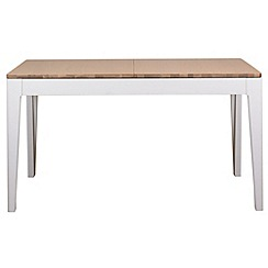 Debenhams - White-washed oak and painted 'Nord' extending table