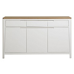 Debenhams - White-washed oak and painted 'Nord' large sideboard