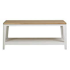 Debenhams - White-washed oak and painted 'Nord' coffee table