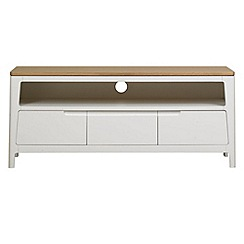 Debenhams - White-washed oak and painted 'Nord' TV unit