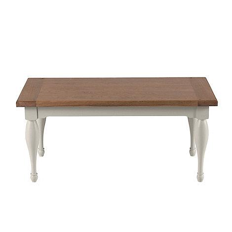 willis & gambier oak and painted 'worcester' coffee table | debenhams