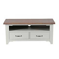 Willis & Gambier - Oak and painted 'Worcester' TV unit