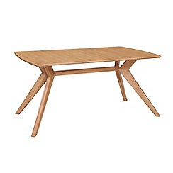 Debenhams - Oak finished 'Smithfield' fixed-top table