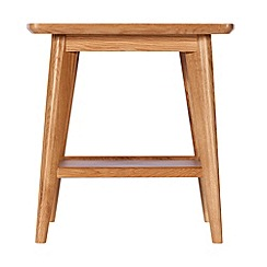 Debenhams - Oak finished 'Smithfield' side table