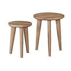Debenhams - Oak finished 'Smithfield' nest of 2 tables