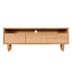 Debenhams - Oak finished 'Smithfield' TV unit