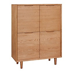 Debenhams - Oak finished 'Smithfield' high sideboard