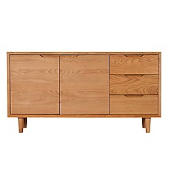 Debenhams - Oak finished 'Smithfield' wide sideboard