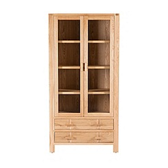 Willis & Gambier - Oak 'Monterey' glazed display cabinet