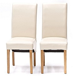Willis & Gambier - Pair of cream 'Normandy' upholstered dining chairs