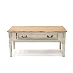 Willis & Gambier - Oak and painted 'Florence' coffee table with single drawer
