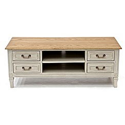 Willis & Gambier - Oak and painted 'Florence' TV unit