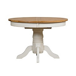 Debenhams - Oak and painted 'Wadebridge' round extending table