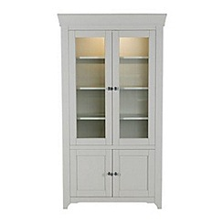 Willis & Gambier - Grey painted 'Worcester' glazed display cabinet