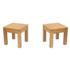 Debenhams - Oak 'Kent' pair of side tables