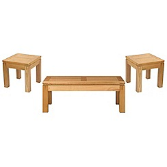 Debenhams - Oak 'Kent' coffee and 2 side tables set