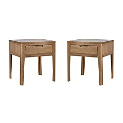 Debenhams - Oak 'Nord' pair of side tables