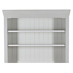 Willis & Gambier - Grey painted 'Worcester' shelving unit
