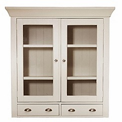 Debenhams - Oak and painted 'Wadebridge' small glazed display unit