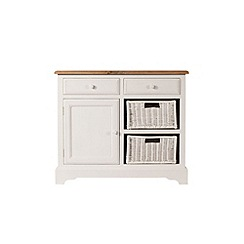 Debenhams - Poplar wood and painted 'Chantilly' small sideboard