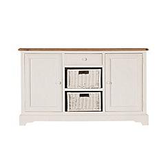 Debenhams - Poplar wood and painted 'Chantilly' large sideboard
