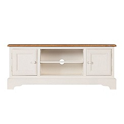 Debenhams - Poplar wood and painted 'Chantilly' TV unit