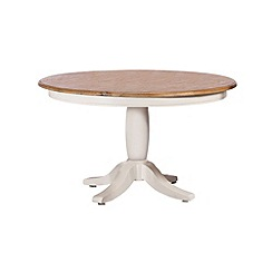 Debenhams - Poplar wood and painted 'Chantilly' round fixed-top table