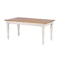 Debenhams - Poplar wood and painted 'Chantilly' extending table