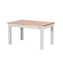 Debenhams - Oak and grey painted 'Chiswick' extending table