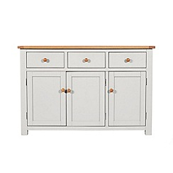 Debenhams - Oak and grey painted 'Chiswick' sideboard