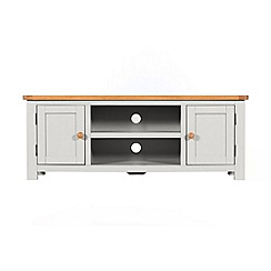 Debenhams - Oak and grey painted 'Chiswick' TV unit