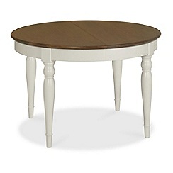Debenhams - Walnut and painted 'Hampstead' small extending table