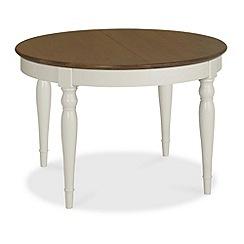 Debenhams - Walnut and painted 'Hampstead' small extending table