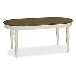 Debenhams - Walnut and painted 'Hampstead' large extending table