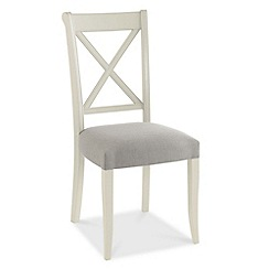 Debenhams - Pair of grey 'Hampstead' cross-back dining chairs
