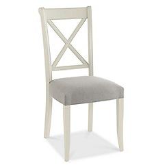 Debenhams - Pair of grey 'Hampstead' cross-back dining chairs