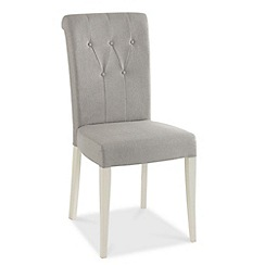 Debenhams - Pair of grey 'Hampstead' upholstered dining chairs