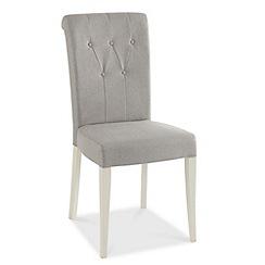 Debenhams - Pair of grey 'Hampstead' upholstered dining chairs
