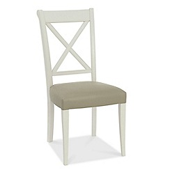 Debenhams - Pair of grey 'Hampstead' cross-back dining chairs with bonded leather seats