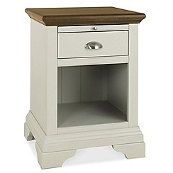 Debenhams - Walnut and painted 'Hampstead' side table with single drawer