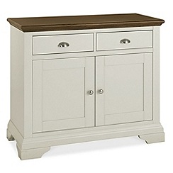 Debenhams - Walnut and painted 'Hampstead' narrow sideboard
