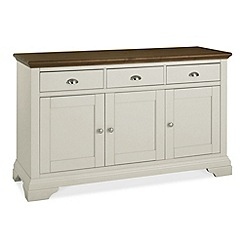 Debenhams - Walnut and painted 'Hampstead' wide sideboard