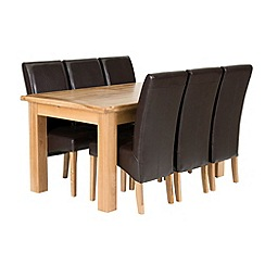 Willis & Gambier - Oak 'Normandy' large extending table and 6 'Fletton' chairs