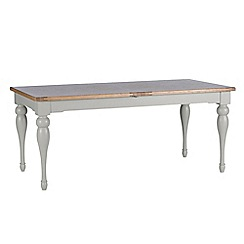 Willis & Gambier - White-washed oak and painted 'Worcester' extra-large extending table