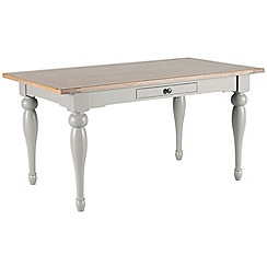 Willis & Gambier - Oak and painted 'Worcester' fixed top table
