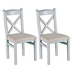 Willis & Gambier - Pair of grey painted 'Worcester' dining chairs