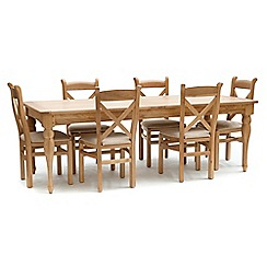 Willis & Gambier - Oak 'Worcester' extra-large extending table and 6 chairs